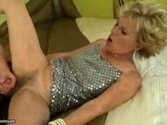 Hot granny with hairy ...