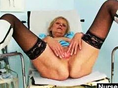 Keez Movies - Blonde granny nurse se...
