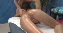 Oiled up massage clien...