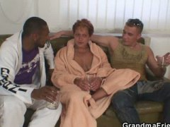 Naughty granny takes t...