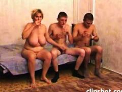 Drunk mature mom with ...