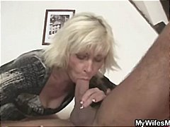 Blonde mother in law s...