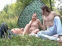 Students on camping