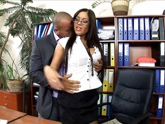 Office secretary fucked i...