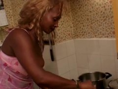 Black Mature Maid Fucks W...
