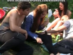 Student sex at outdoor...