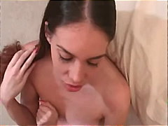 Small tits babe gives ...