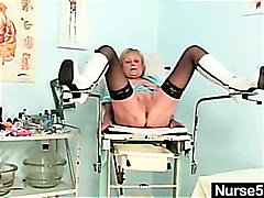 Blonde granny nurse se...