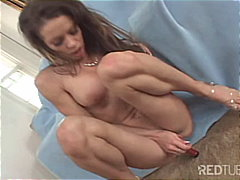 Watch her toying her s...