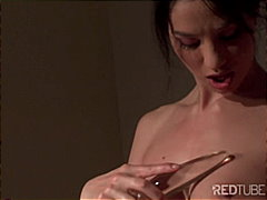 Sexy brunette and her toy from Redtube