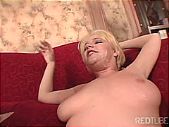 Missy gets a jizz glaze from Redtube