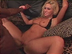Cute blonde having fun...