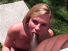 Blonde enjoying black ...