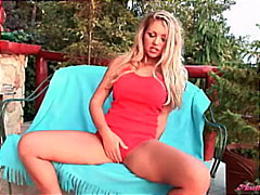 Baywatch babe rubbing ...
