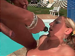 Stuffed at the pool from Redtube