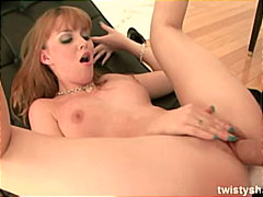 Cute redhead pleased from Redtube