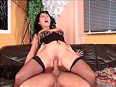 Slut blowing cock