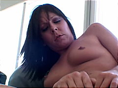 Black haired gagging a... from Redtube