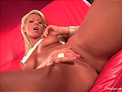 Tanya James stripping 4