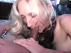 Young blonde eating cock