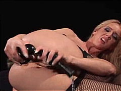 Blonde plays anal