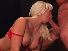 Blonde sucking wet and...