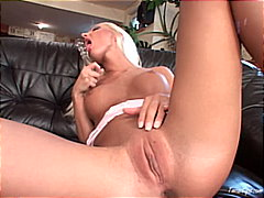 Hot blond babe present... from Redtube