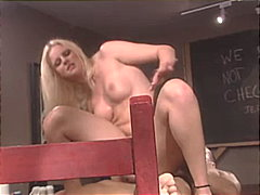 The way blond cutie ac... from Redtube