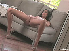 Sexy brunette touching... from Redtube