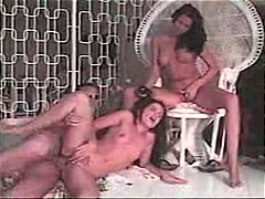 Man fucks two girls ri...