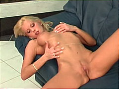 Blondie squeezing her ...