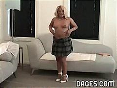 MILF tries her new dildo from Keez Movies