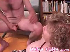 Lusty Grandma Sucks Cock from Keez Movies