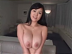 Busty Asian Plays W/ B...