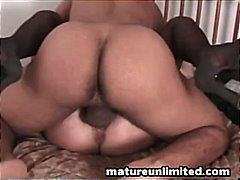 Hairy mature pounded h...