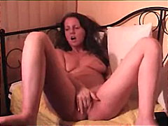 Natural brunette dildo... from Keez Movies