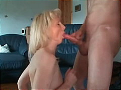 Wife gets cum on her a...