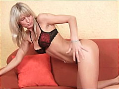 Nasty blonde babe solo...