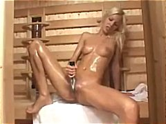 Sexy young blonde gets...