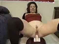Busty brunette rides a... from Nuvid