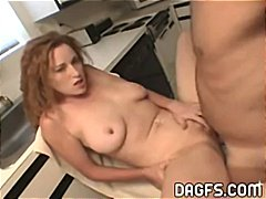 Redhead wife fingers a...