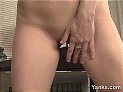 Horny blonde MILF gets...