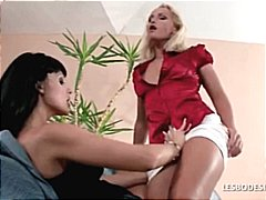 Hot blonde and sexy br...