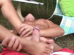 Foot Job on the Grass