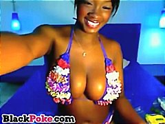 Beautiful black babe w...