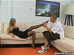 footjob from