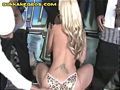 Busty blonde babe gets...