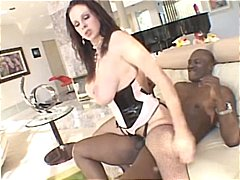 Busty brunette takes o...