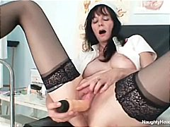 Filthy old milf nurse ...