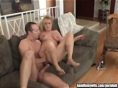 Hubby watches as his b...